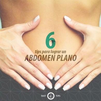 6 tips para lograr un abdomen plano