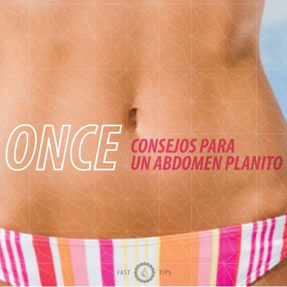11 consejos para lucir un abdomen plano