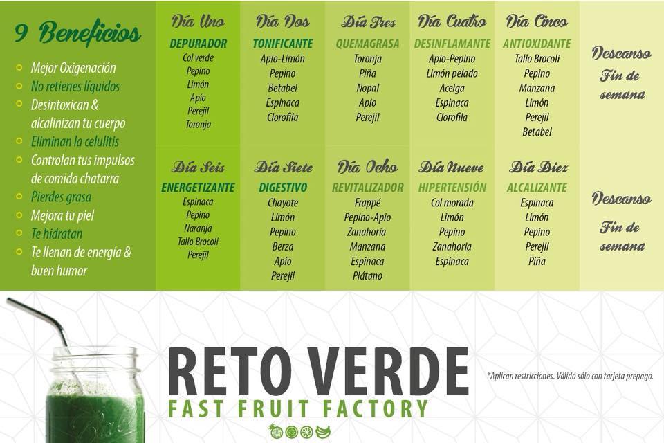 Reto jugos verdes
